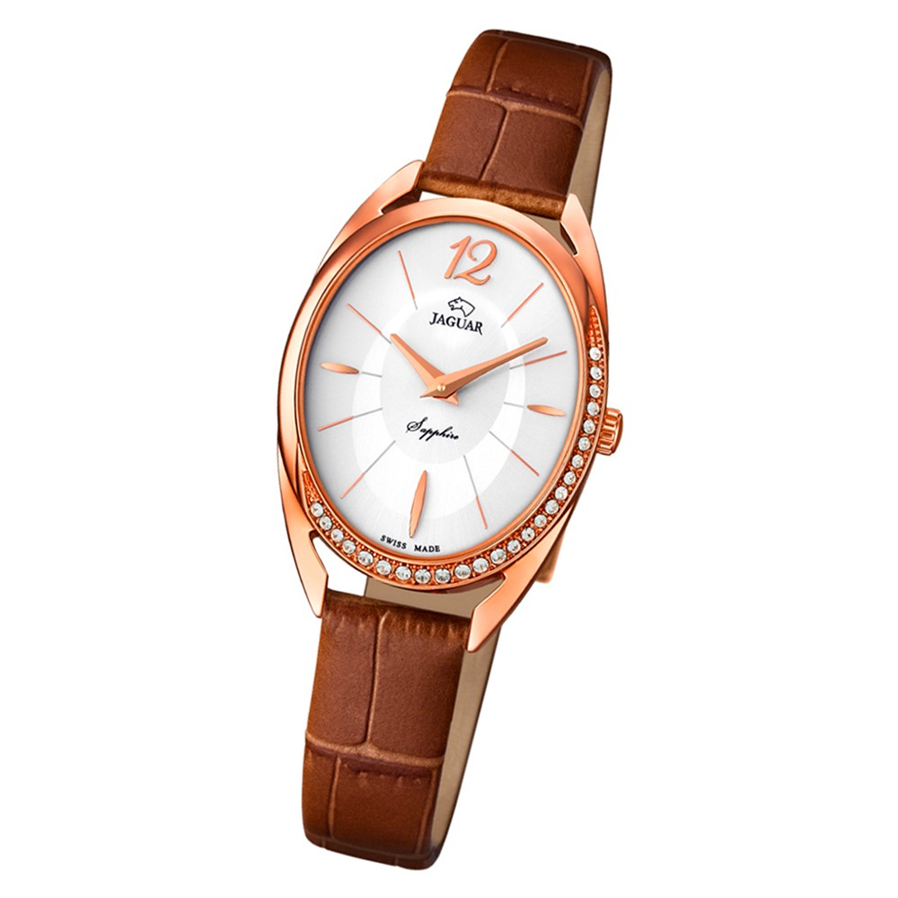 Jaguar Damen-Armbanduhr Leder braun J837/1 Saphirglas Cosmopolitan UJ837/1
