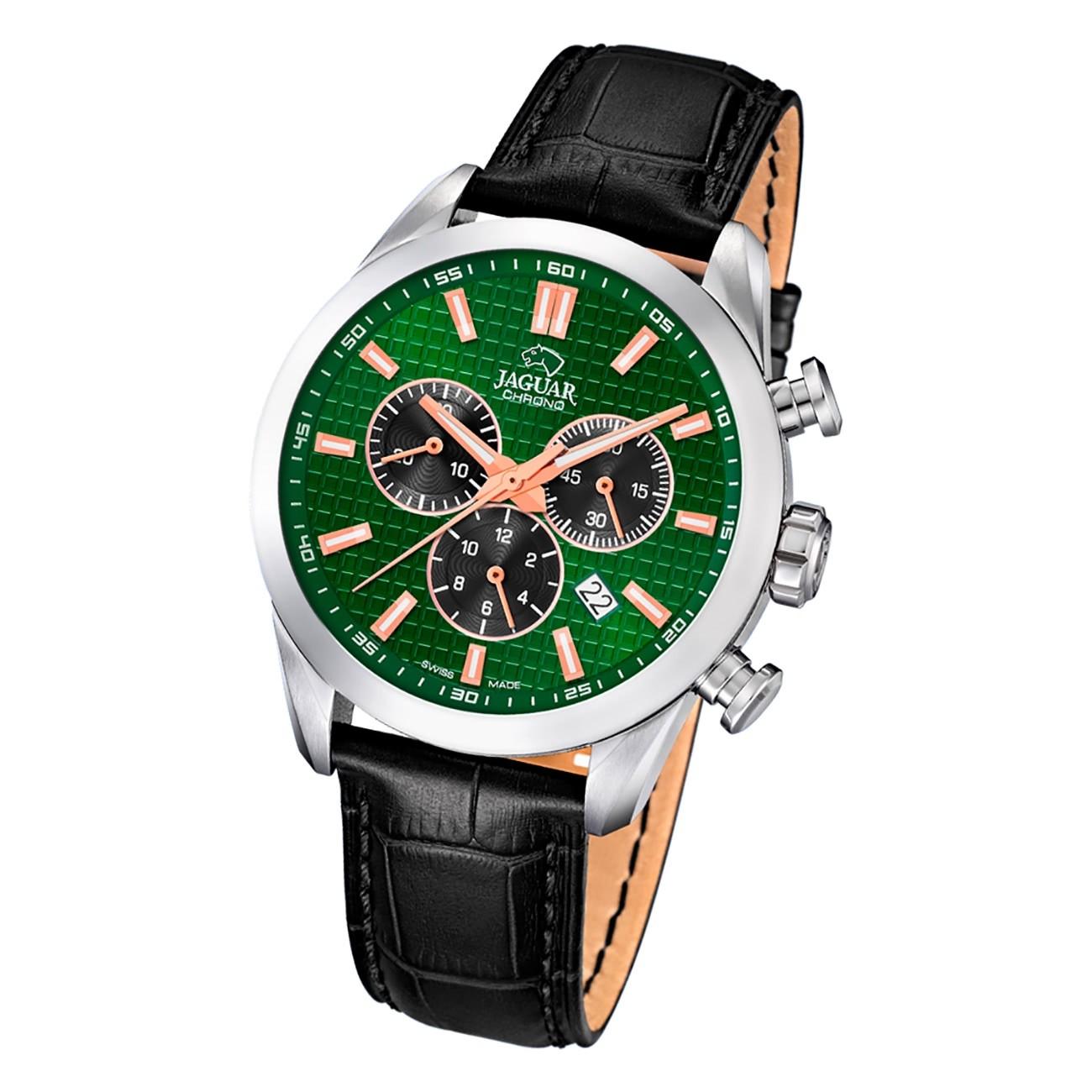 Jaguar Herren Armbanduhr ACM J866/3 Chronograph Leder schwarz UJ866/3