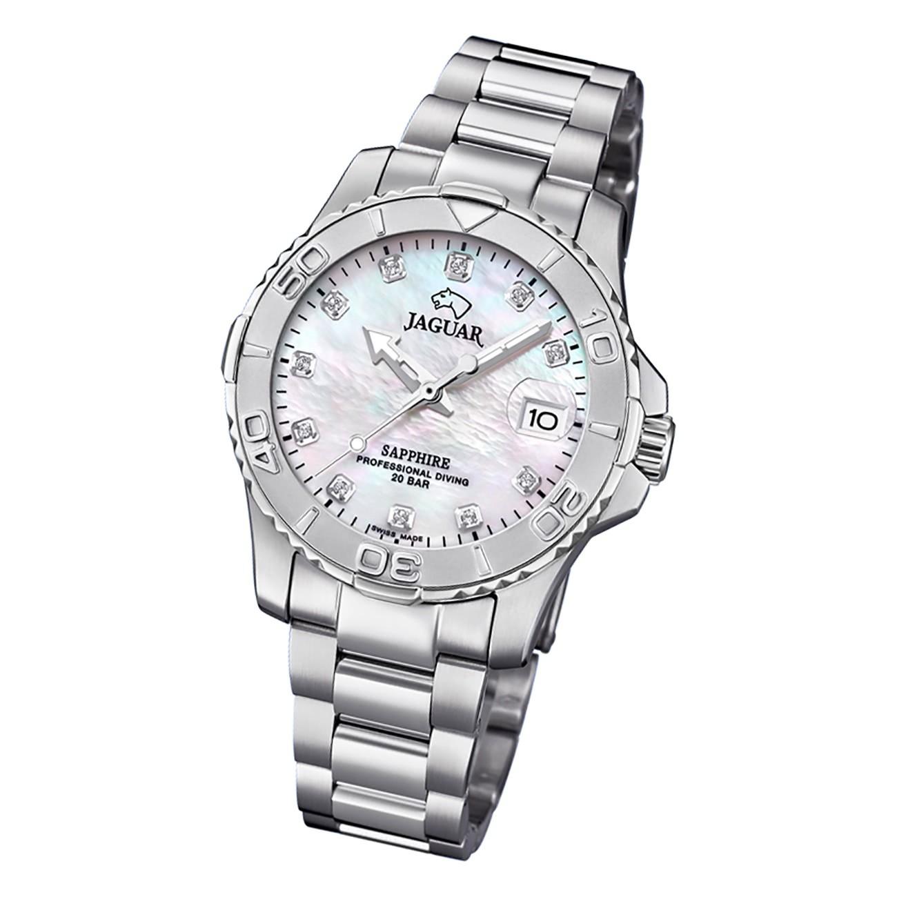 Jaguar Damen Armbanduhr Cosmopolitan J870/1 Analog Edelstahl silber UJ870/1