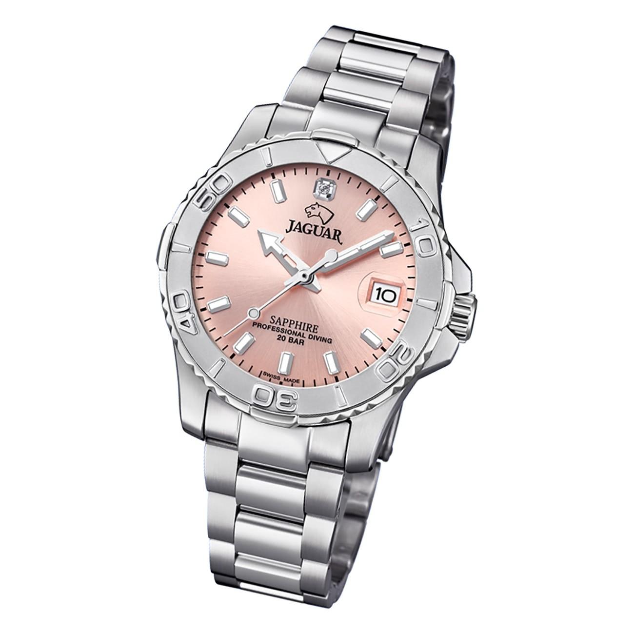 Jaguar Damen Armbanduhr Cosmopolitan J870/3 Analog Edelstahl silber UJ870/3