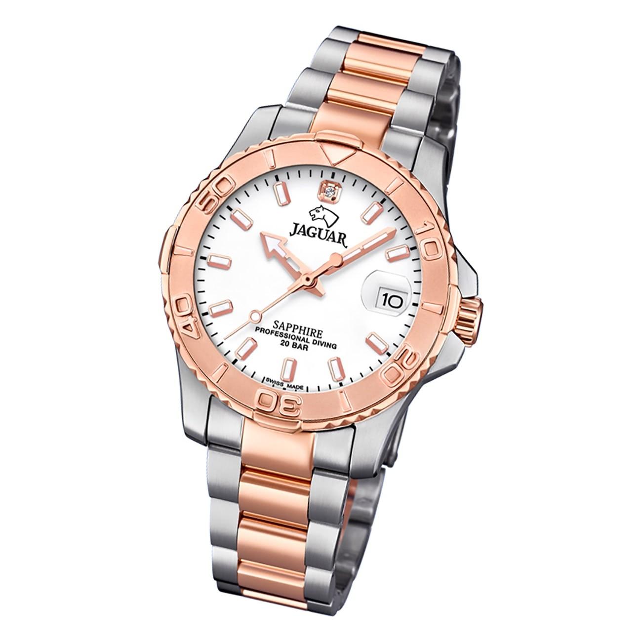 Jaguar Damen Armbanduhr Cosmopolitan J871/1 Edelstahl silber rosegold UJ871/1