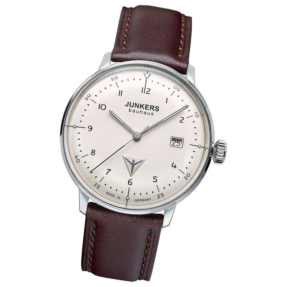 JUNKERS Herren-Uhr Quarzuhr Inspiration Bauhaus 6046-5 Leder-Armband UJU6046/5