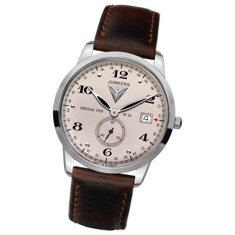 JUNKERS Herren-Uhr Quarzuhr Inspiration Flatline 6334-5 Leder-Armband UJU6334/5