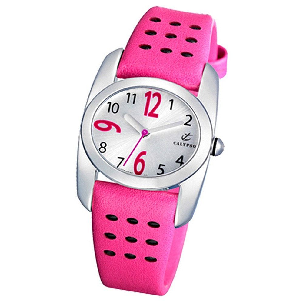 Calypso Jugenduhr Mädchen pink-silber Analog Calypso Uhren UK5195/3