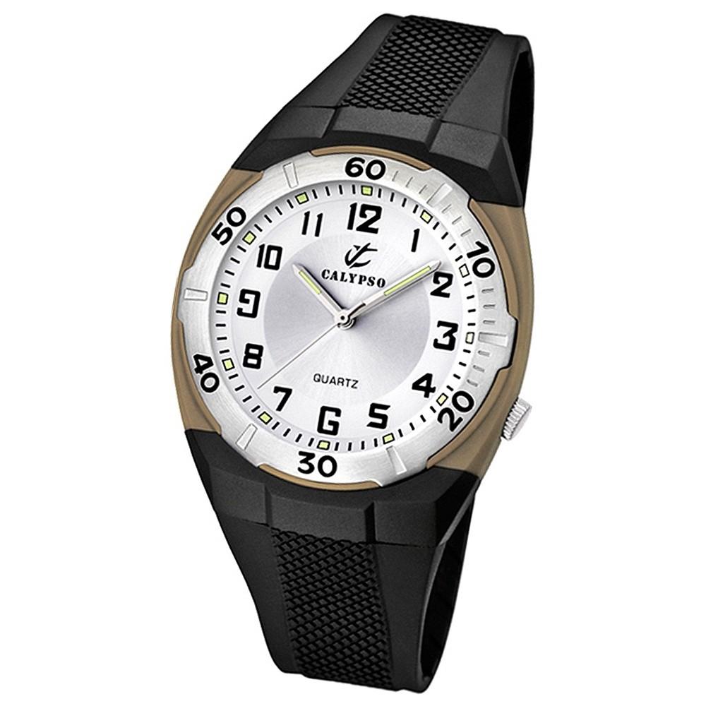 CALYPSO Herren-Armbanduhr Sport analog Quarz-Uhr PU schwarz UK5214/1