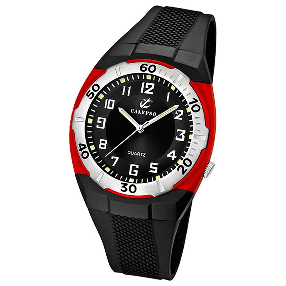 CALYPSO Herren-Armbanduhr Sport analog Quarz-Uhr PU schwarz UK5214/4