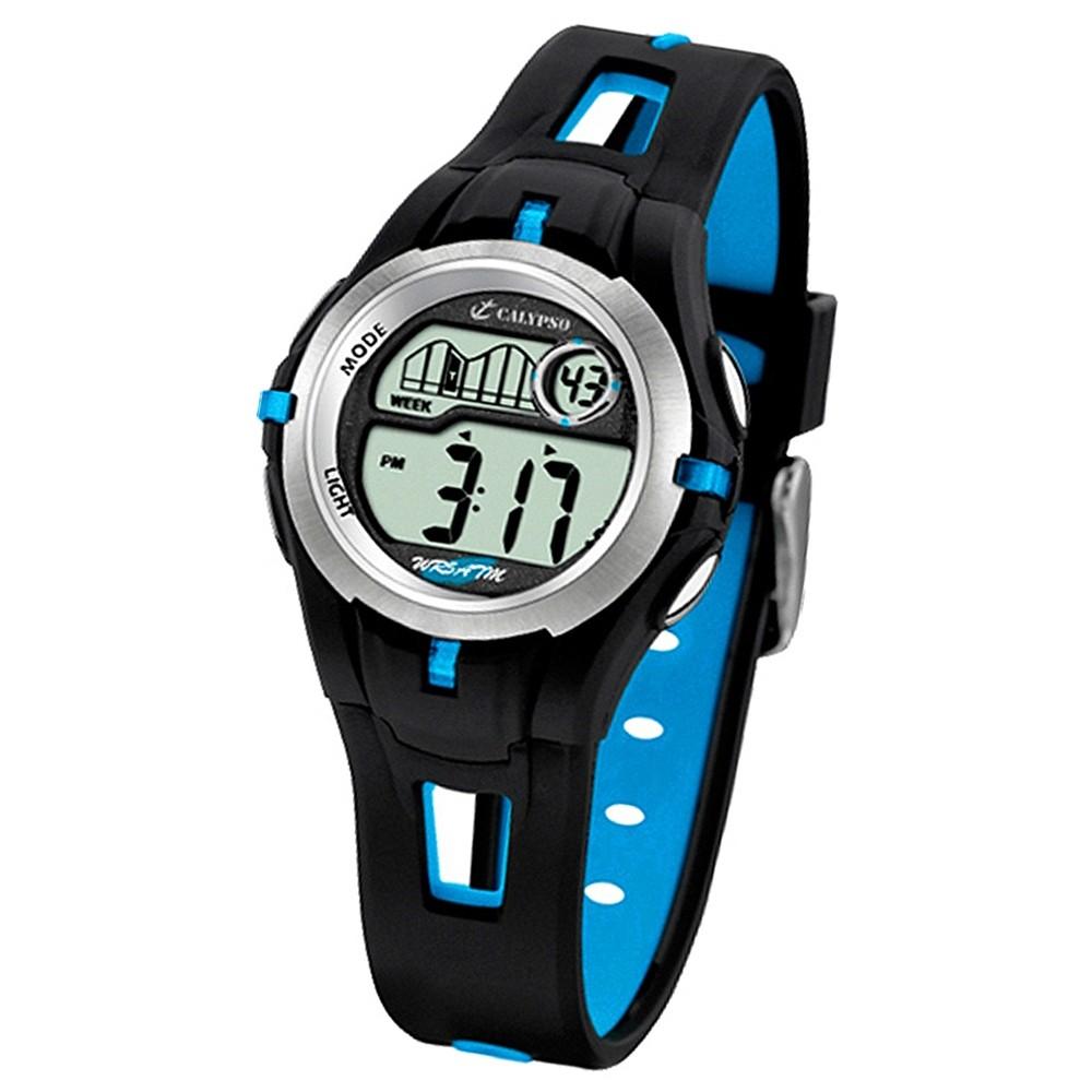 Calypso Jugenduhr, schwarz-blaues Armband Digital Calypso Uhren UK5506/4