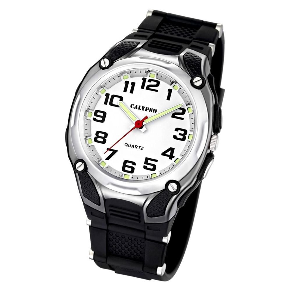 CALYPSO Herren-Armbanduhr Sport analog Quarz-Uhr PU schwarz UK5560/4