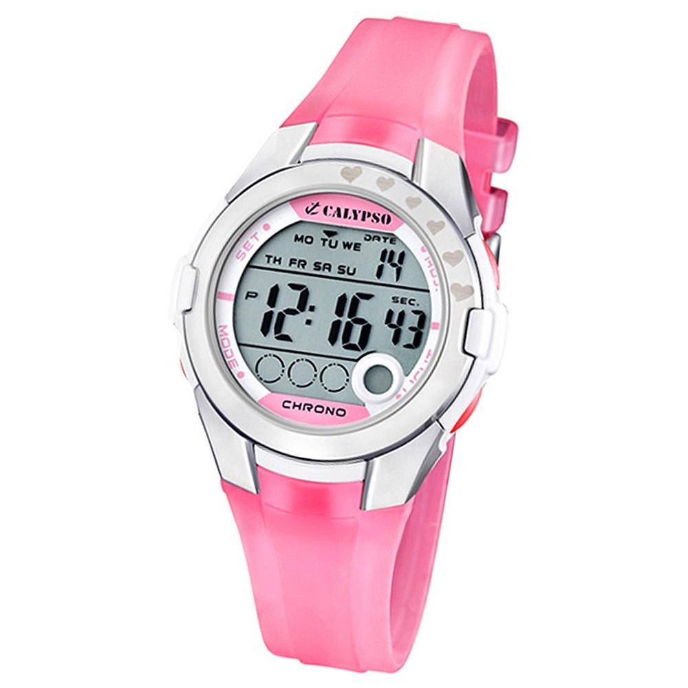 CALYPSO Damen-Armbanduhr Fashion Chronograph Quarz-Uhr PU rosa UK5571/2