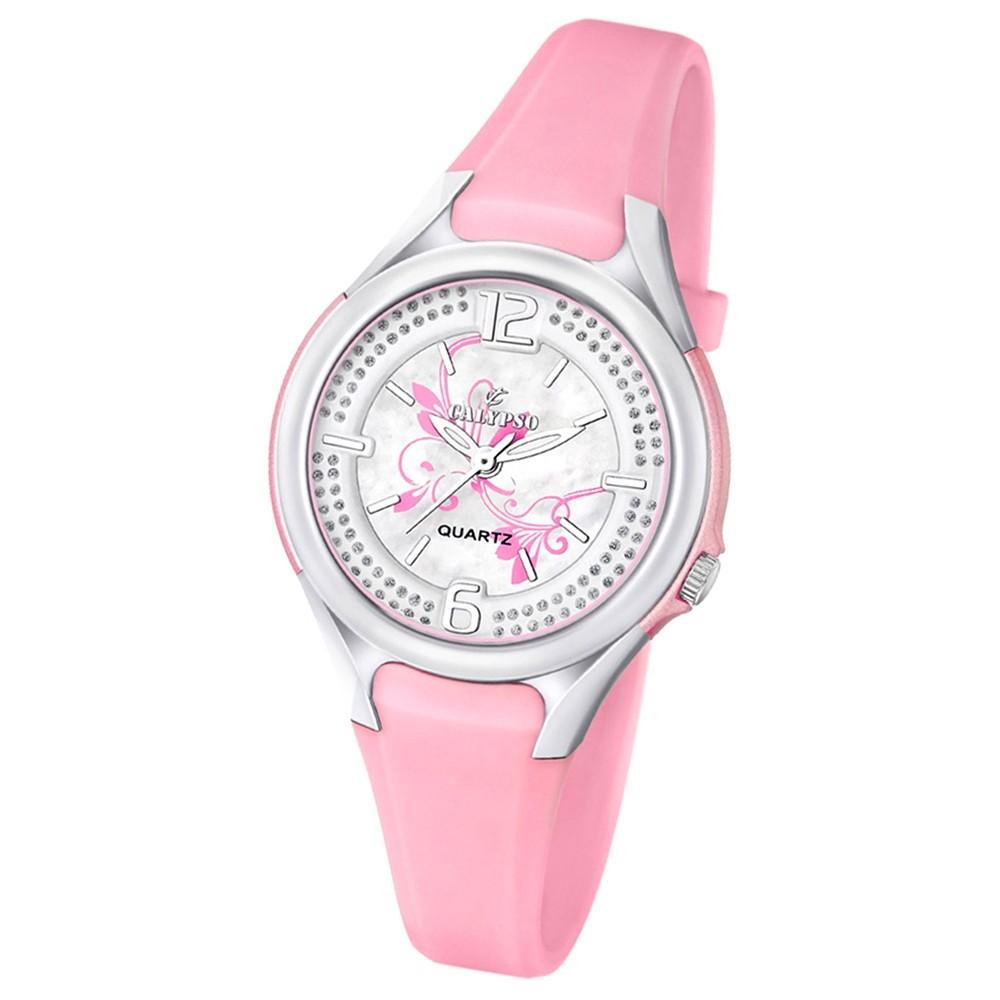 CALYPSO Damen-Armbanduhr Fashion analog Quarz-Uhr PU rosa UK5575/2