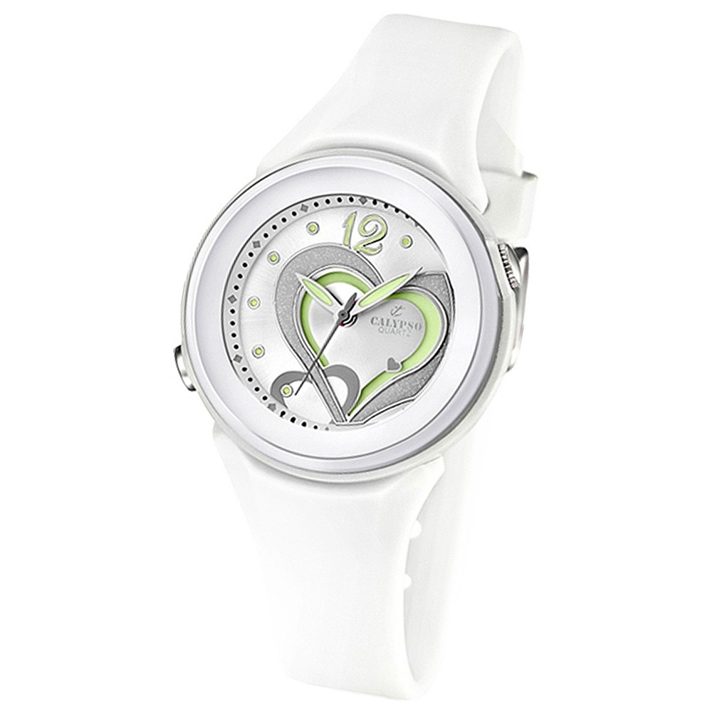 CALYPSO Damen-Armbanduhr Fashion analog Quarz-Uhr PU weiß UK5576/1