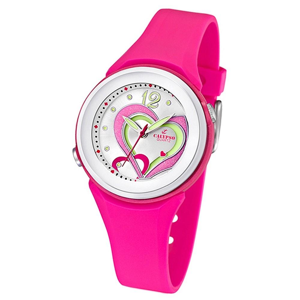 CALYPSO Damen-Armbanduhr Fashion analog Quarz-Uhr PU pink UK5576/5