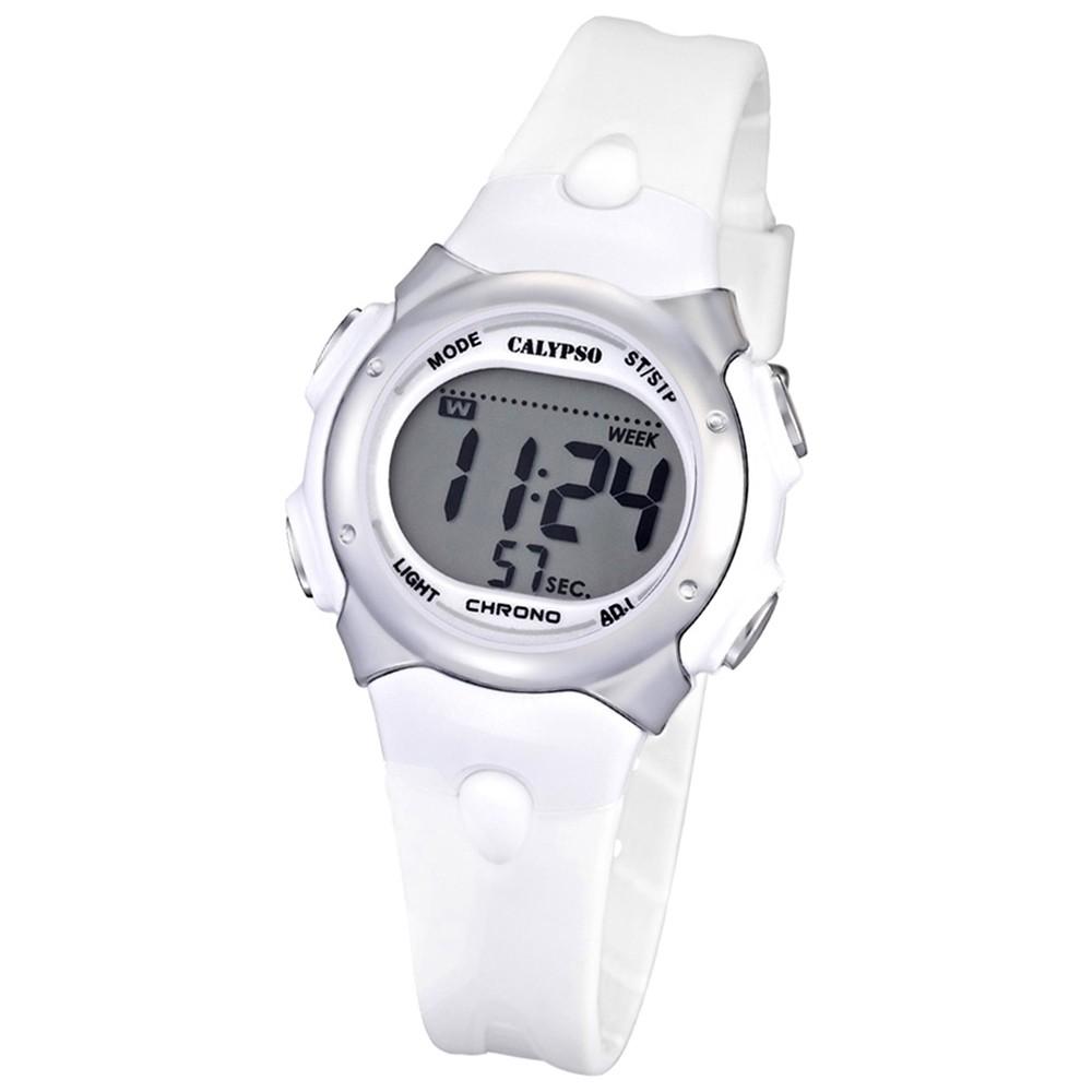 CALYPSO Damen-Armbanduhr Fashion Chronograph Quarz-Uhr PU weiß UK5609/1