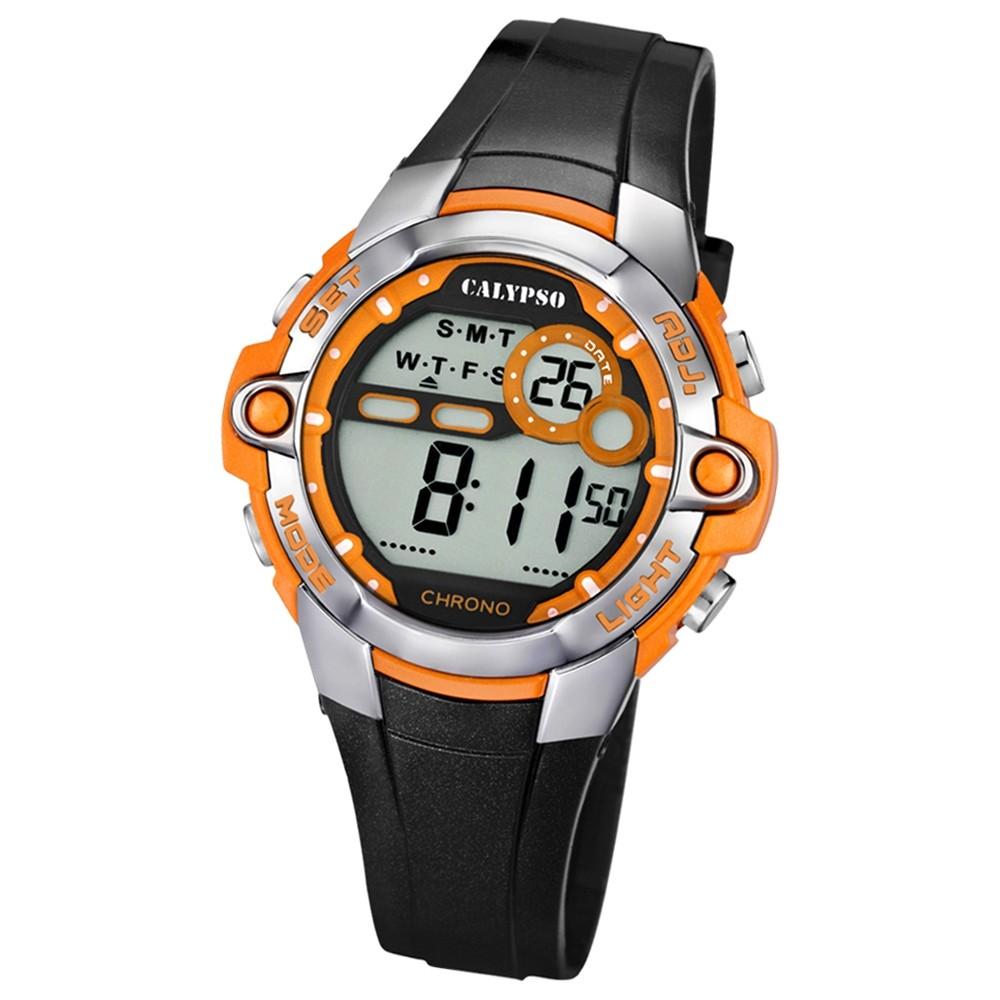 CALYPSO Damen Herren-Armbanduhr Sport Chronograph Quarz-Uhr PU schwarz UK5617/4