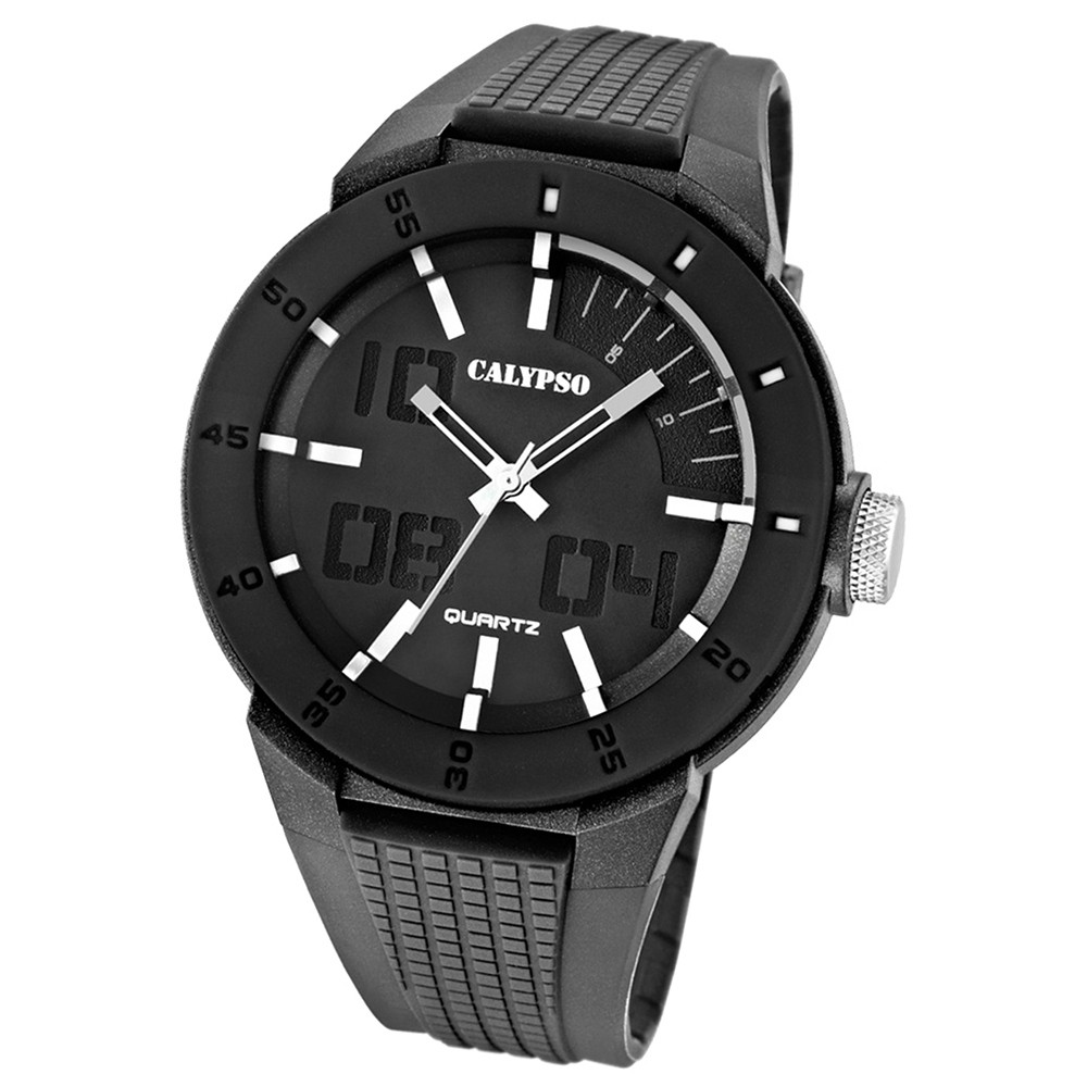 Calypso Herrenuhr PVD schwarz-grau Analog Uhren Kollektion UK5629/1