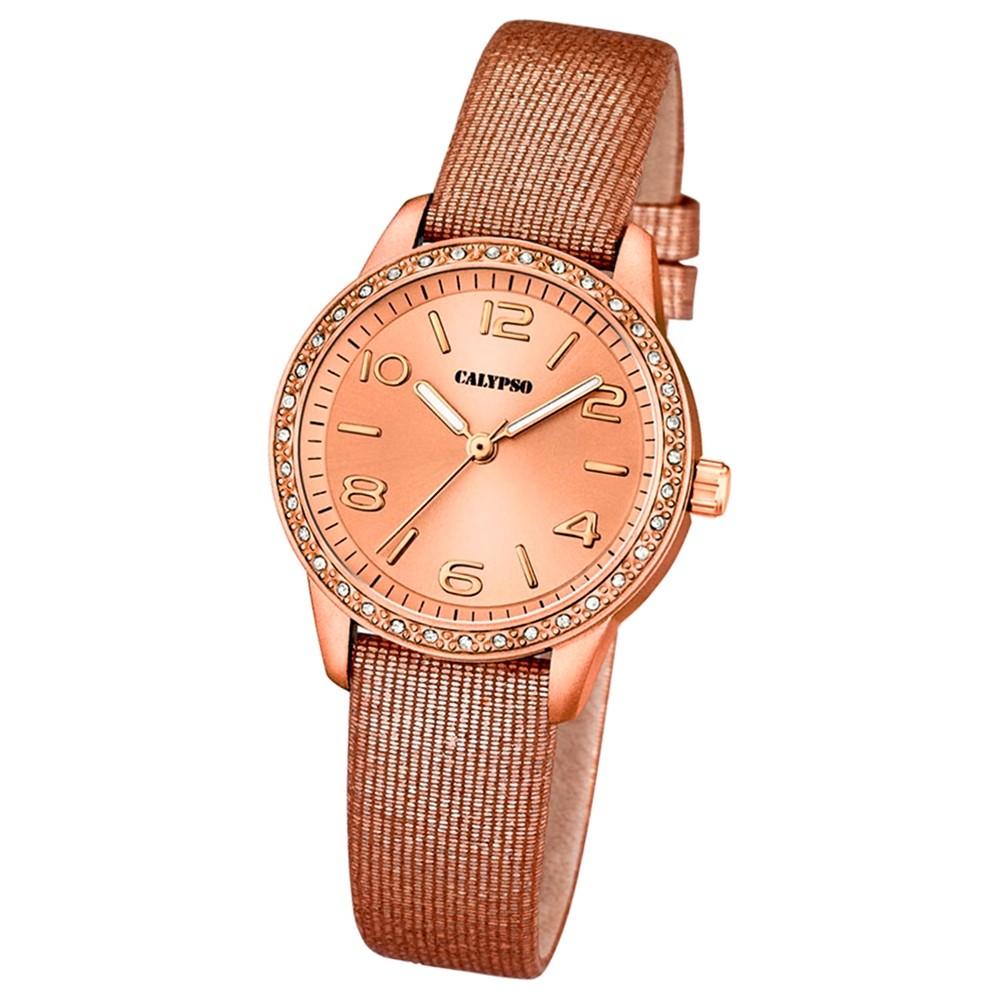 CALYPSO Damen-Uhr - Trend - Analog - Quarz - Leder - UK5652/3