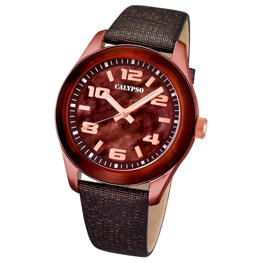 CALYPSO Damen-Uhr - Trend - Analog - Quarz - Leder - UK5653/8