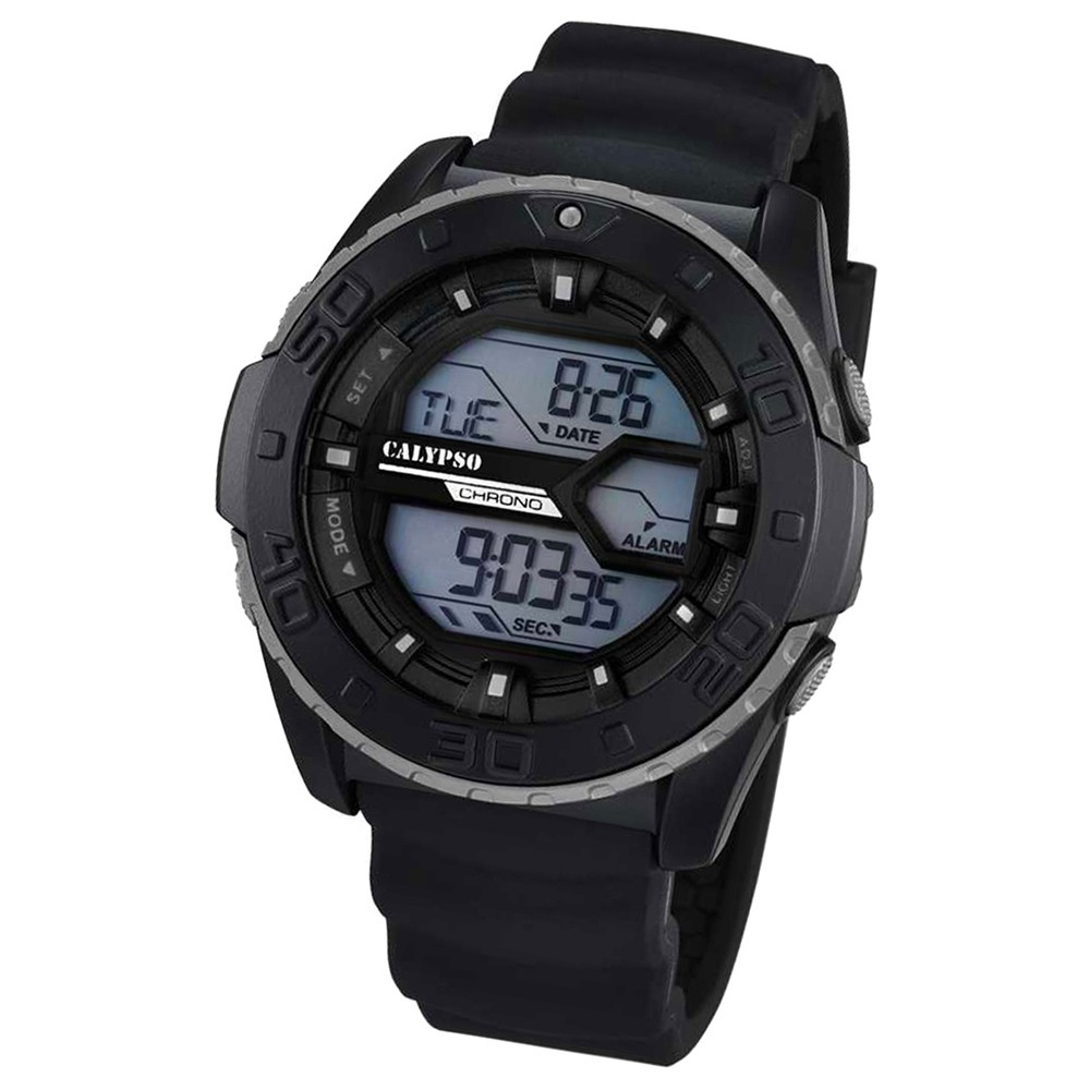 CALYPSO Herren-Uhr - Sport - digital - Quarz - PU - UK5654/1