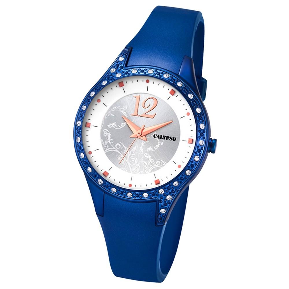 Calypso Damen-Armbanduhr Trend analog Quarz PU blau UK5660/5