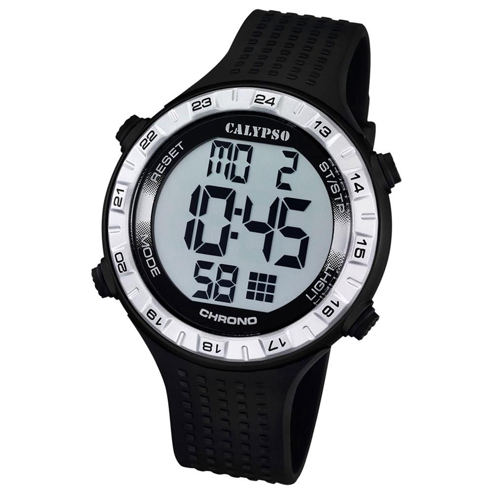 CALYPSO Herren-Uhr - Sport - digital - Quarz - PU - UK5663/1