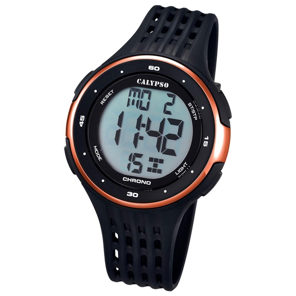 CALYPSO Herren-Uhr - Trend - digital - Quarz - PU - UK5664/4
