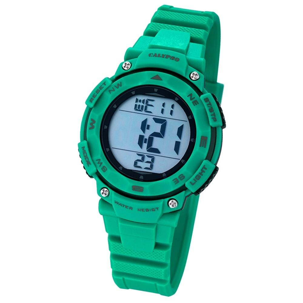 CALYPSO Damen-Armbanduhr Sport Chronograph Quarz-Uhr PU grün UK5669/3