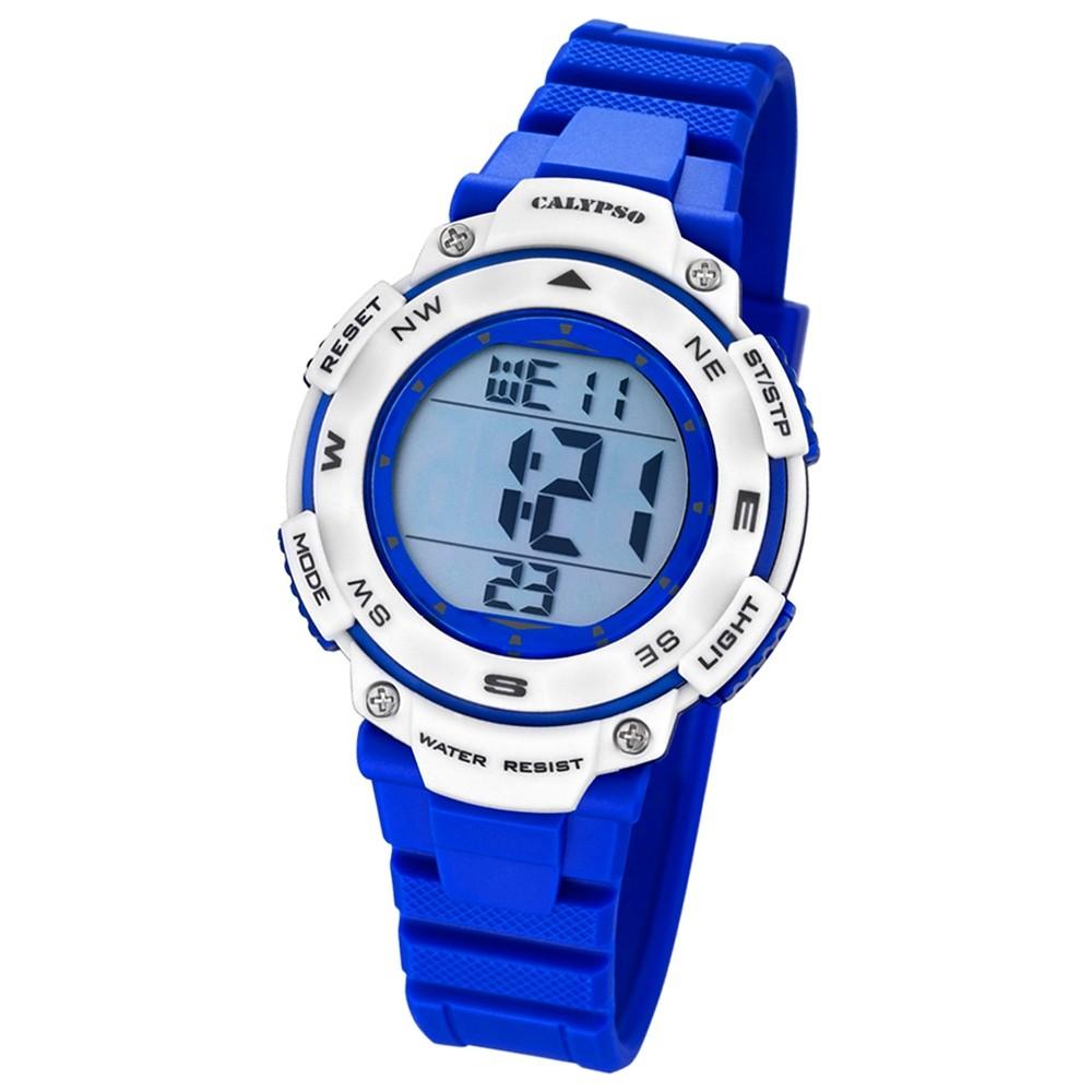 Calypso Damen-Armbanduhr Digital for Woman digital Quarz PU blau Sport UK5669/7