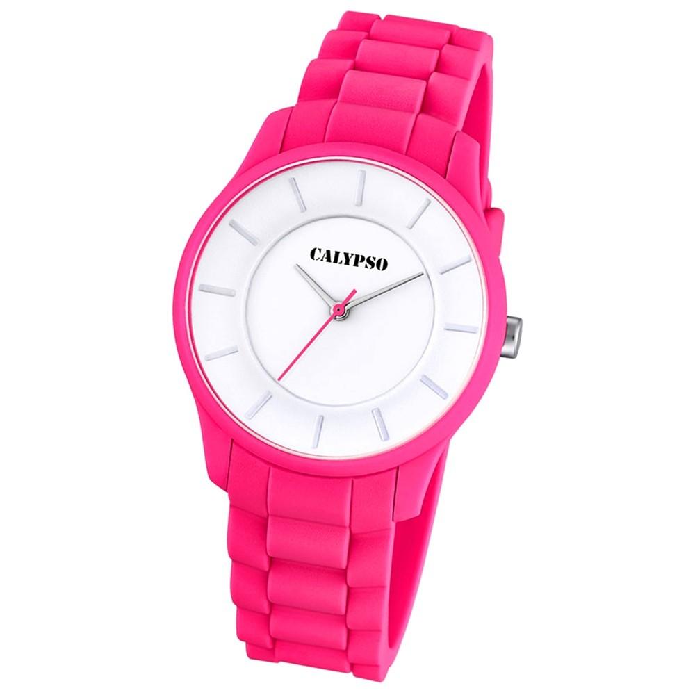 CALYPSO Damen-Armbanduhr Fashion analog Quarz-Uhr PU pink UK5671/4