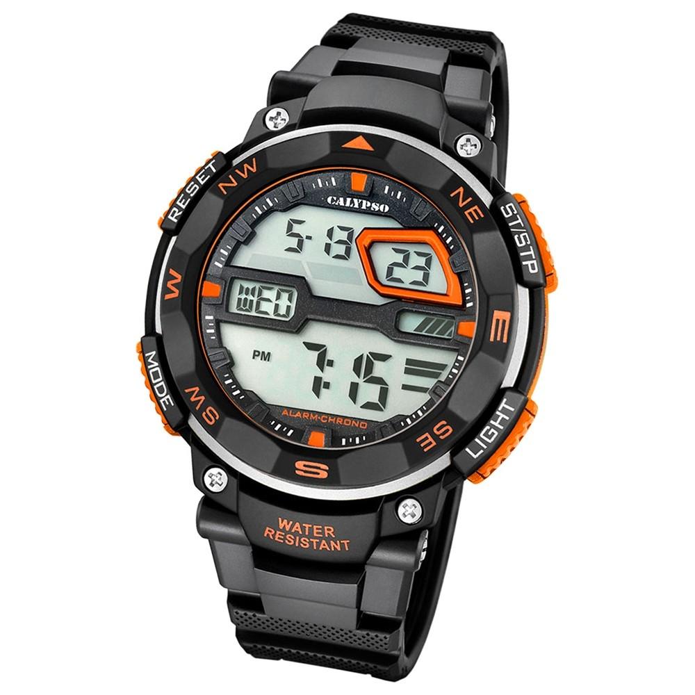 Calypso Herren-Armbanduhr Digital for Man digital Quarz PU schwarz UK5672/1