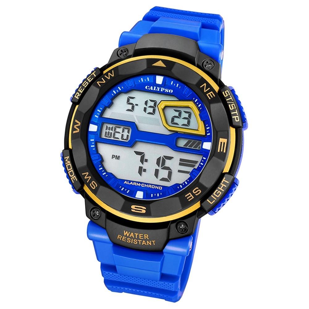 Calypso Herren-Armbanduhr Digital for Man digital Quarz PU blau UK5672/7