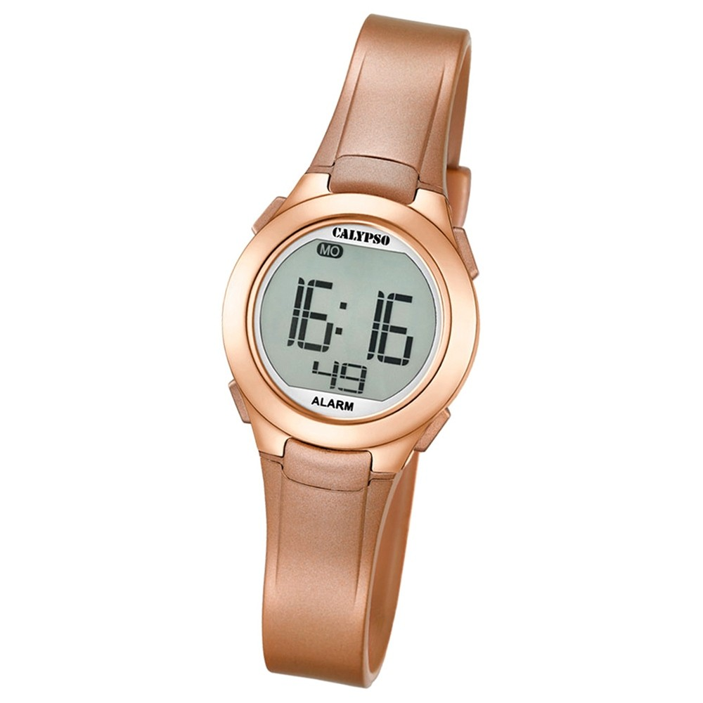 Calypso Damen-Armbanduhr Dame/Boy digital Quarz PU roségold UK5677/3