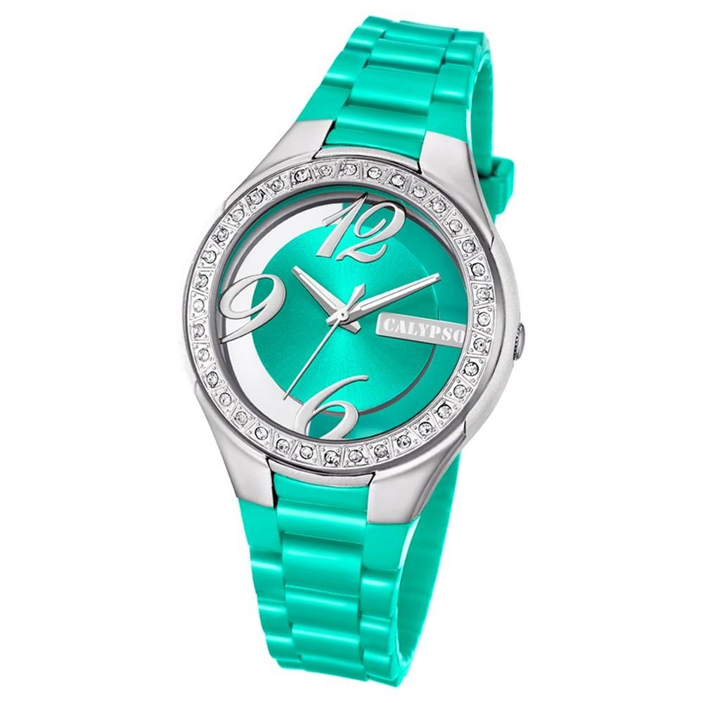 Calypso Damen-Armbanduhr Trendy analog Quarz PU grün UK5679/4