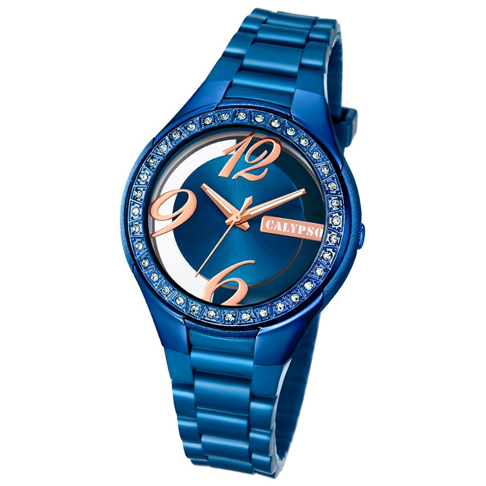 Calypso Damen-Armbanduhr Trendy analog Quarz PU blau UK5679/E