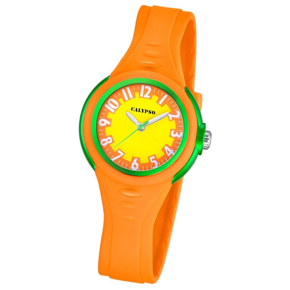 CALYPSO Kinder-Armbanduhr Fashion analog Quarz-Uhr PU orange UK5686/2