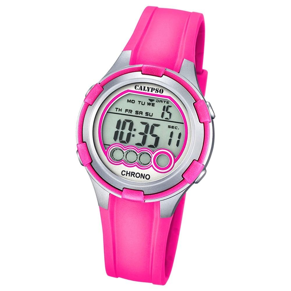 Calypso Damen-Armbanduhr Digital for Woman digital Quarz PU fuchsie UK5692/3
