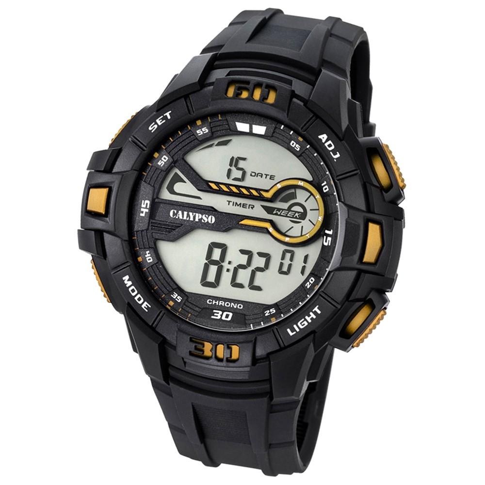 Calypso Herren-Armbanduhr Digital for Man digital Quarz PU schwarz UK5695/4