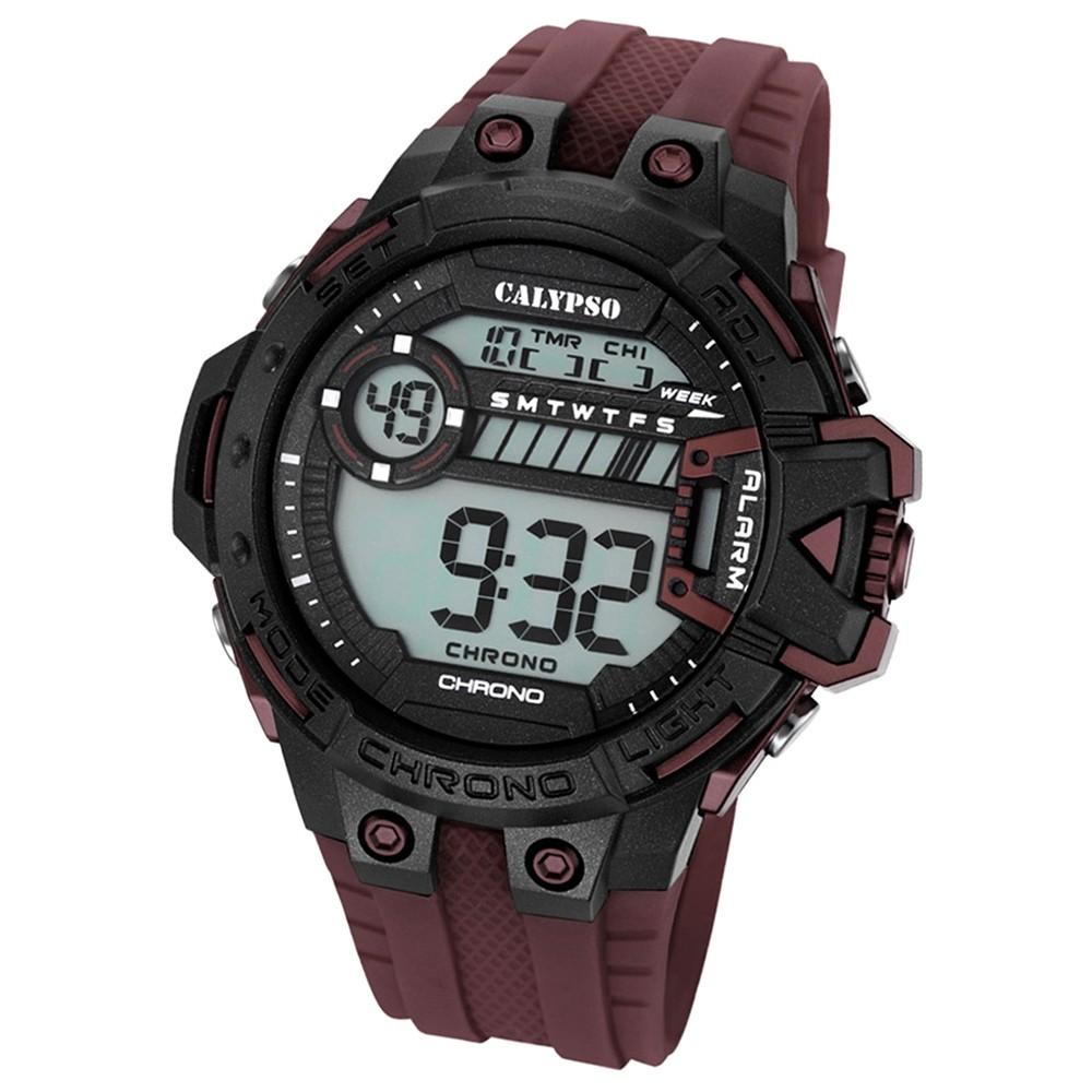 Calypso Herren-Armbanduhr Digital for Man digital Quarz PU braun UK5696/7