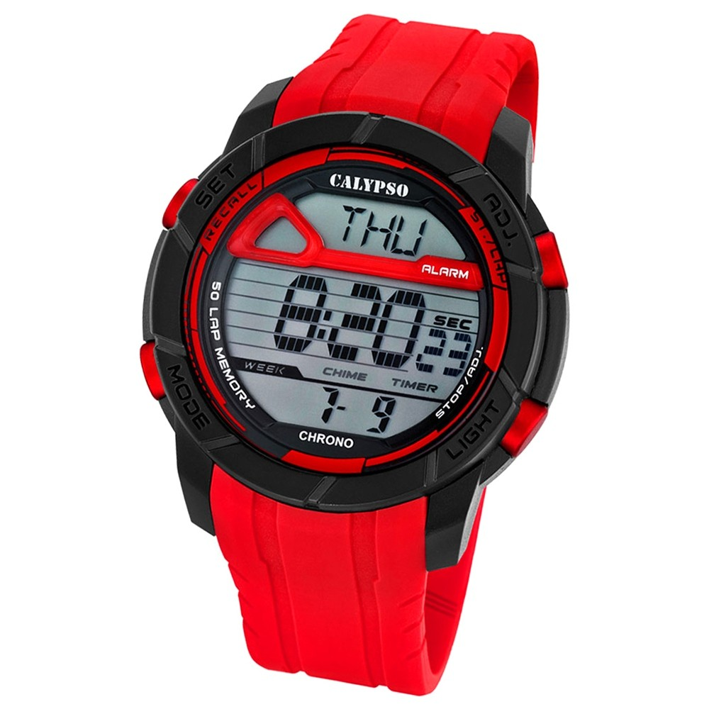 Calypso Herren-Armbanduhr Digital for Man digital Quarz PU rot UK5697/2