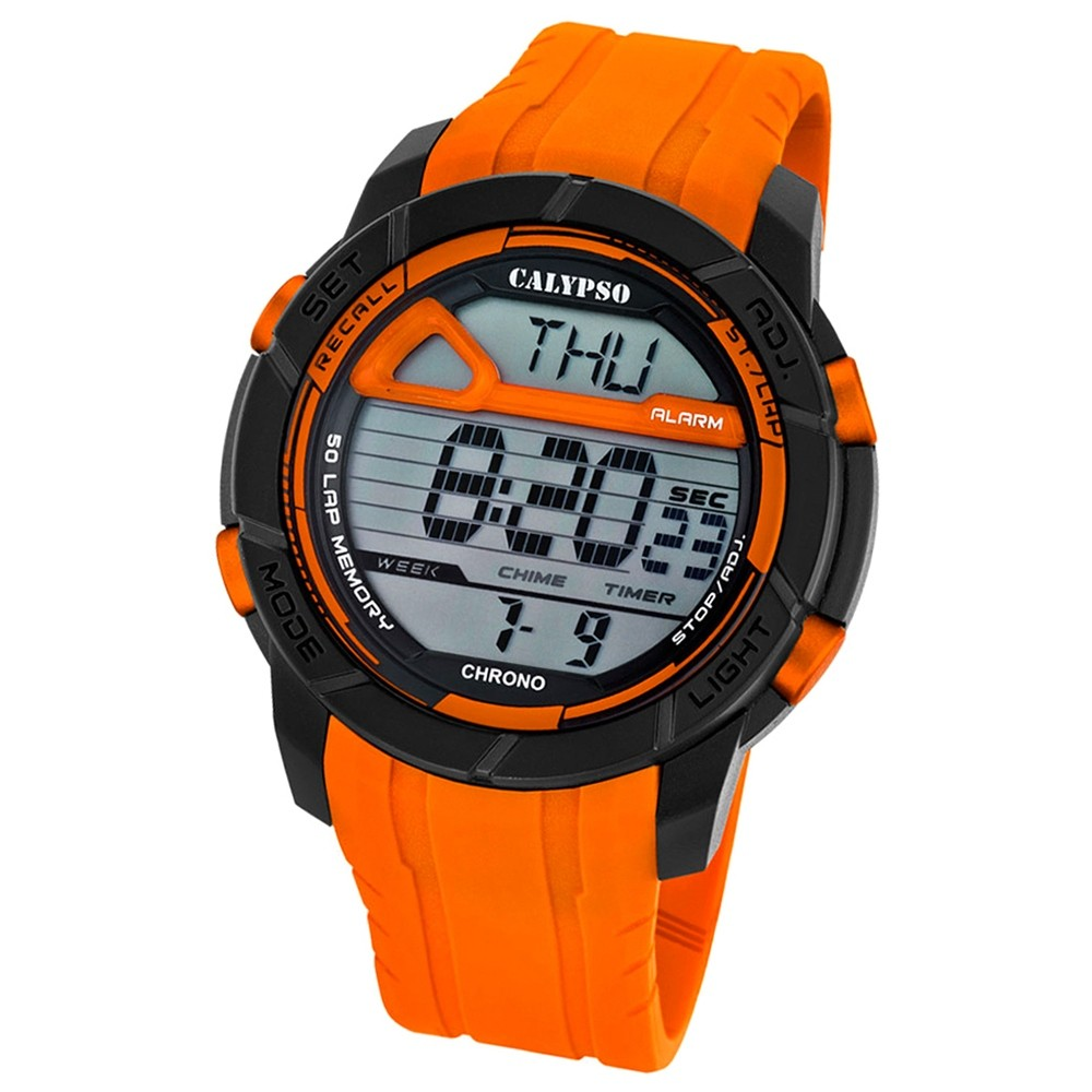 Calypso Herren-Armbanduhr Digital for Man digital Quarz PU orange UK5697/3