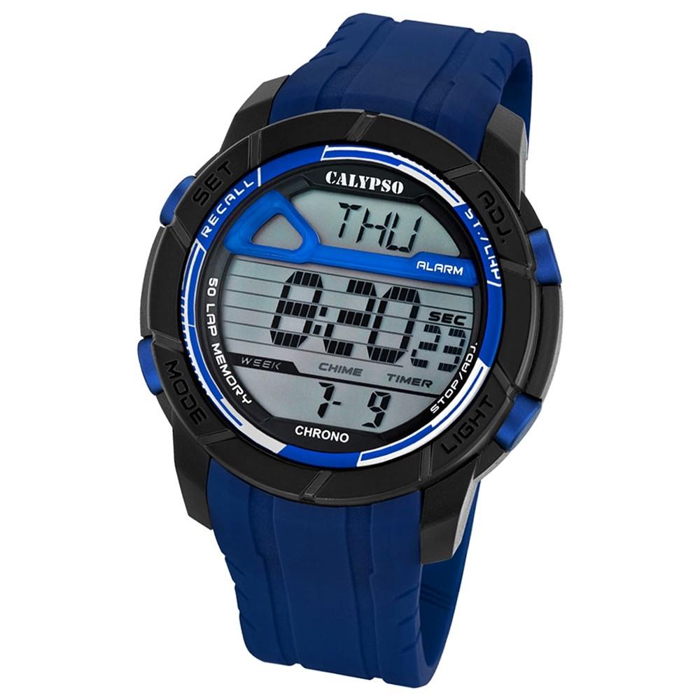 Calypso Herren-Armbanduhr Digital for Man digital Quarz PU blau UK5697/4