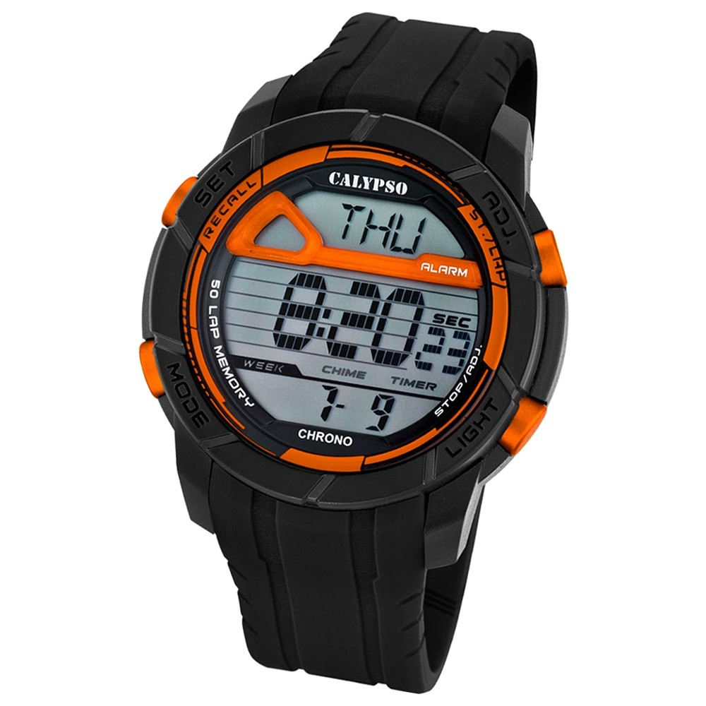 Calypso Herren-Armbanduhr Digital for Man digital Quarz PU schwarz UK5697/7