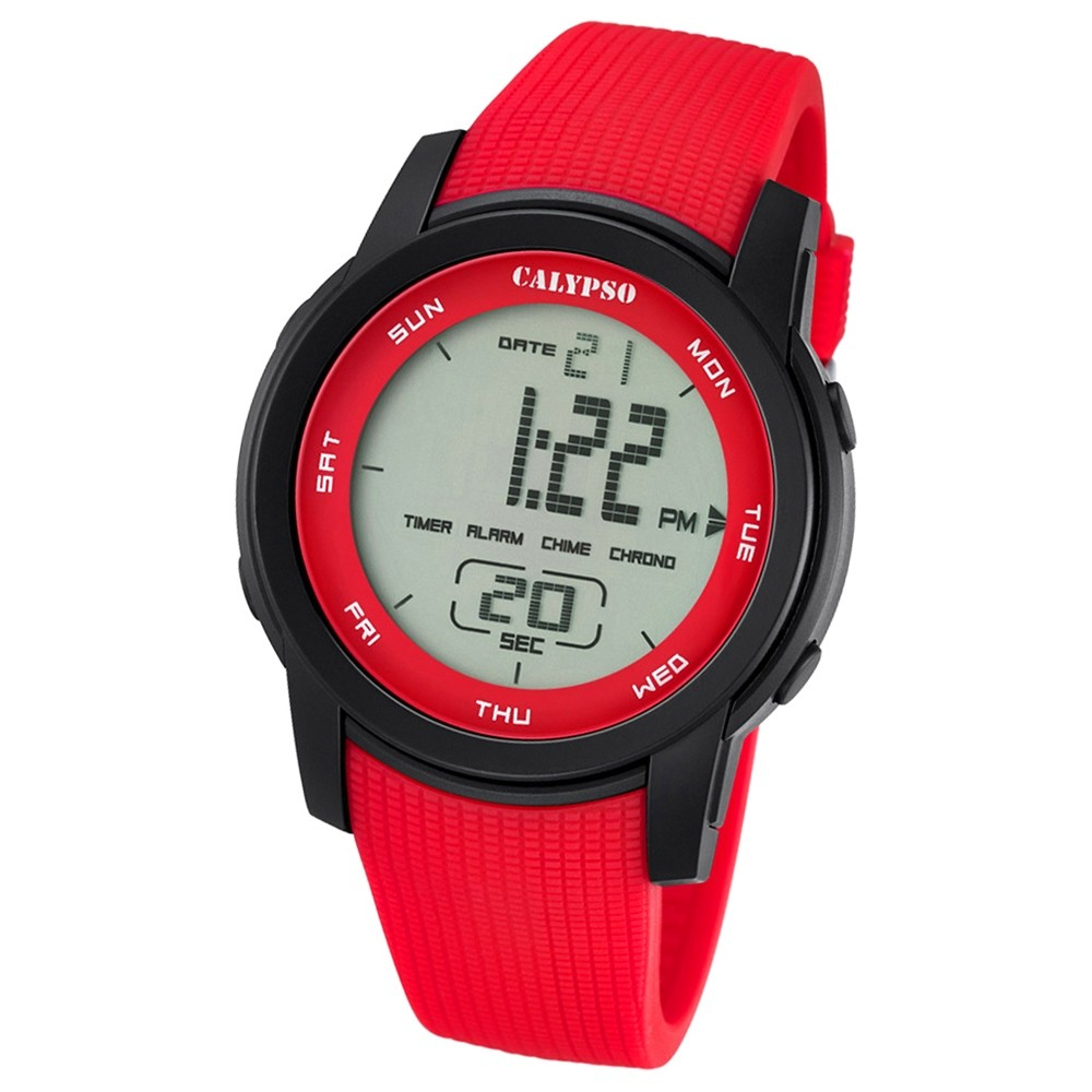 Calypso Herren-Armbanduhr Digital for Man digital Quarz PU rot UK5698/3