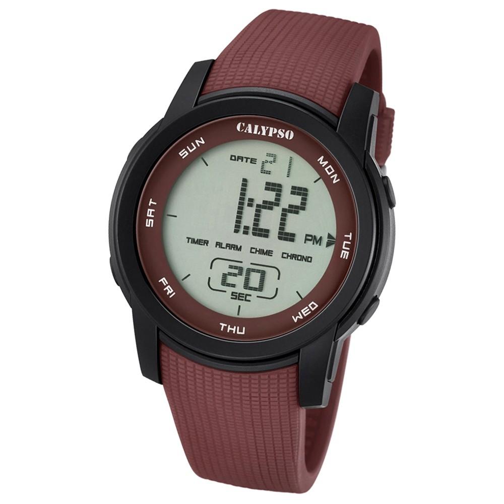 Calypso Herren-Armbanduhr Digital for Man digital Quarz PU braun UK5698/5