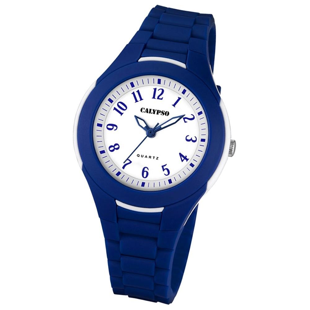 Calypso Damen Herren-Armbanduhr Dame/Boy analog Quarz PU blau UK5700/5