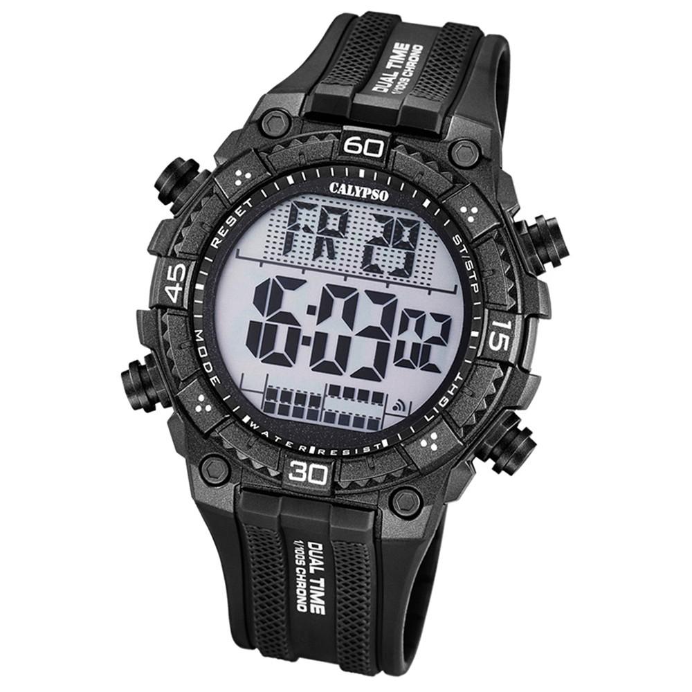 Calypso Herren-Armbanduhr Digital for Man digital Quarz PU schwarz UK5701/8