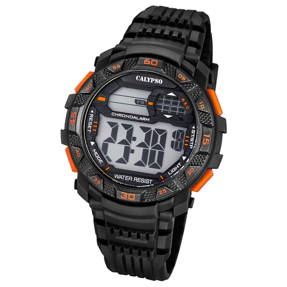 Calypso Herren-Armbanduhr Digital for Man digital Quarz PU schwarz UK5702/6