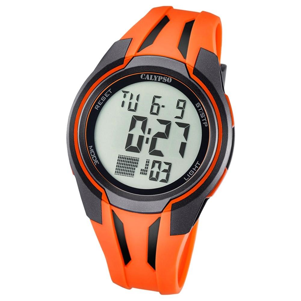 Calypso Herren-Armbanduhr Digital for Man digital Quarz PU orange UK5703/1