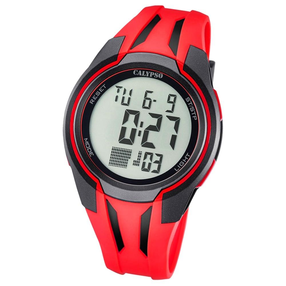 Calypso Herren-Armbanduhr Digital for Man digital Quarz PU rot UK5703/2