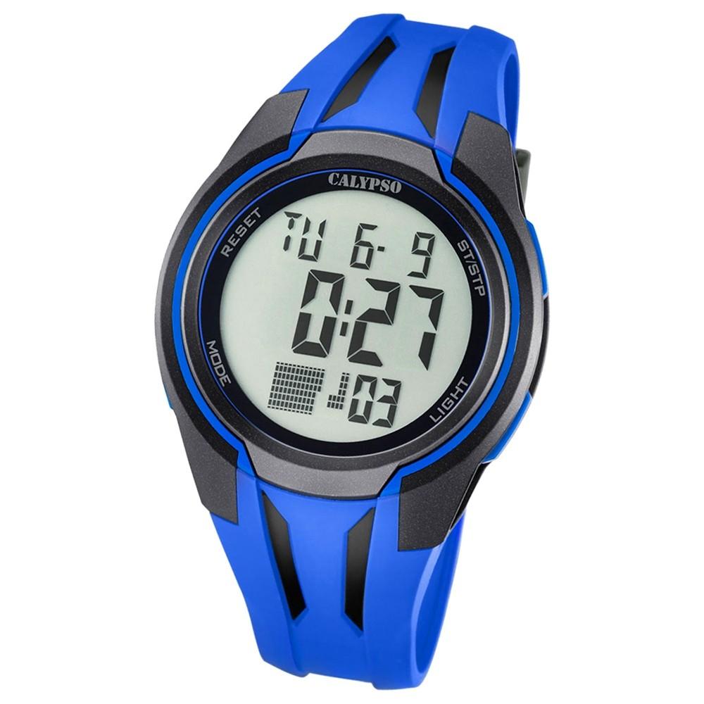 Calypso Herren-Armbanduhr Digital for Man digital Quarz PU blau UK5703/3