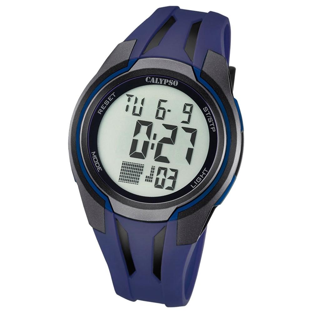 Calypso Herren-Armbanduhr Digital for Man digital Quarz PU dunkelblau UK5703/4